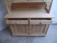 Lovely Art Deco 4 Door Antique Pine Glazed Kitchen Dresser To Paint/Wax (6 of 9)