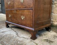 18th Century Georgian Oak Crossbanded Bureau (17 of 22)