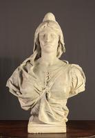 Substantial Size French Plaster Bust Marianne - Liberty (4 of 12)