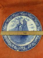 """1901 Wedgwood Etruria Queensware """"The Intrepid"""" Boat Plate (4 of 10)"""