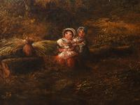 Victorian Oil Painting English Norfolk Landscape Rustic c.1860 Arcadia (3 of 17)