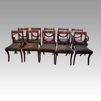 Set of 10 Regency Mahogany Dining Chairs (8 of 12)