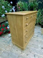 Beautiful Old Pine Chest Of Six Drawers / Sideboard (5 of 8)