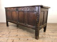 Antique Carved Oak Coffer (10 of 13)
