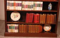 Mahogany Open Bookcase - England c.1900 (4 of 11)