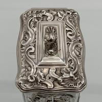 Antique Victorian Sterling Silver Tea Caddy London 1894 George Fox (9 of 12)