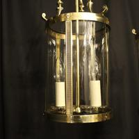 French Pair of Convex Twin Light Antique Lanterns (10 of 10)