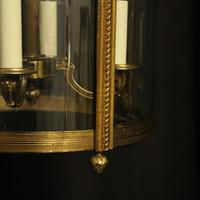 French Pair of Bronze Antique Hall Lanterns (9 of 10)