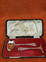 Vintage Sterling Silver Hallmarked Cased Spoon & Pusher 1955 Sheffield, Viner's Ltd
