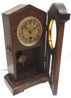 Antique German Mantel Clock Bevelled 4 Glass Mantle Clock by Hac (11 of 13)