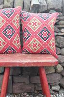 Early 20th Century, Antique Swedish Woven Textile, Geometric Patterned 're-stuffed cushions' (18 of 20)