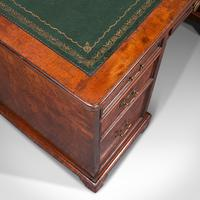 Antique Morning Room Desk, English, Walnut, Writing Table, Victorian c.1880 (8 of 12)