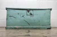 Antique Green Painted Wooden Trunk or Box (2 of 10)