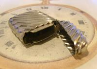 Antique Vesta Case 1890s Victorian The Beacon Chunky Silver Chrome Case (8 of 10)