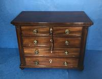 Victorian mahogany miniature chest of drawers (7 of 18)
