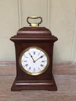 Small Mahogany 18th Century Style Bracket Clock (5 of 11)