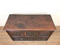 18th Century Carved Oak Mule Chest (2 of 13)