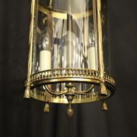 French Convex Gilded Twin Light Antique Lantern (7 of 10)