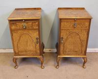 Quality Pair of Burr Walnut Bedside Cabinets (12 of 14)
