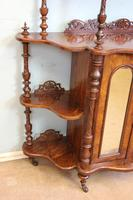 Antique Victorian Burr Walnut Display Whatnot Side Cabinet (8 of 13)