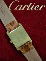 Cartier Gents Tank Wristwatch Quartz Model Tan Strap (3 of 4)