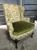 Queen Anne Style French Wing Back Chair (6 of 9)