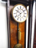Antique Rocket Cased Single Weight Walnut 8-Day Vienna Regulator Wall Clock (14 of 14)