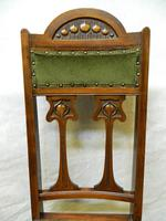 Set of 10 Art Nouveau Dining Chairs (5 of 6)