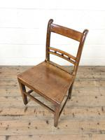 Harlequin Set of 19th Century Welsh Oak Ball & Rail Back Chairs (3 of 11)