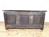 Antique 18th Century Carved Oak Coffer (9 of 10)