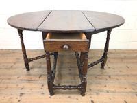 Antique Oak Drop Leaf Dining Table (4 of 13)