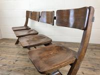 Antique Victorian Elm Four Seater Bench (M-717) (6 of 12)