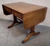 Regency Style Inlaid Mahogany Sofa Table by Thomas Glenister High Wycombe, Bucki (5 of 9)