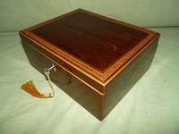 Georgian Inlaid Rosewood Jewellery / Table Box c.1825 (9 of 12)