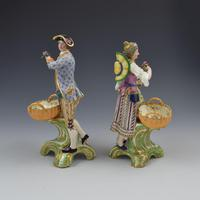 Fine Pair Minton Porcelain Sweetmeat Figures with Baskets Models 84 & 85 c.1830 (4 of 23)