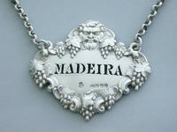 Victorian Cast Silver Bacchus Mask Wine Label 'Madeira' (2 of 10)