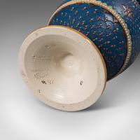 Pair of Antique Decorative Vases, German, Ceramic, Villeroy & Boch, Victorian (11 of 12)