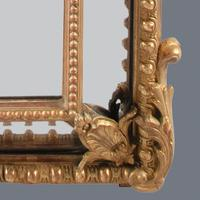 Large  French Gilt Overmantle Mirror (3 of 11)