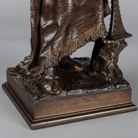 Magnificent 19th Century French Bronze Sculpture of Arabian Sentinel, Signed J.Angles (17 of 19)
