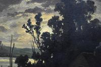 R T Stuart c1870 French Barbizon School Landscape Oil Painting (5 of 8)