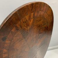 18th Century Segmented Oval Yew Wood Wine Table (4 of 7)