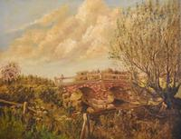 Oil Painting of the Old Bridge Near Welham (4 of 8)