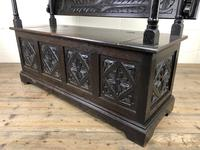 Early 20th Century Stained Oak Monk's Bench (11 of 14)