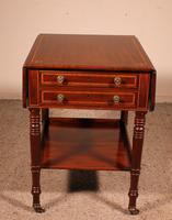 Pembroke Table In Mahogany & Inlay 19th Century - England (8 of 16)