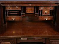 Good Oak Roll Top Desk by Maples London (3 of 12)