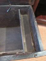 George I Period Oak Six Plank Coffer (9 of 10)