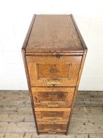 Antique Oak Four Drawer Filling Cabinet (3 of 12)