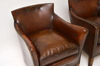 Pair of Antique Swedish Leather Armchairs (12 of 12)