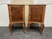 Pair of Burr Walnut Queen Anne Bedside Cupboards (3 of 15)