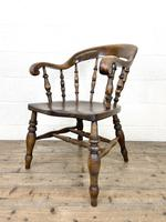 Antique 19th Century Smoker's Bow Chair (6 of 9)